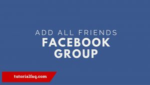 add all friends to a Facebook group
