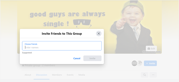 safely invite all Facebook friends to a group