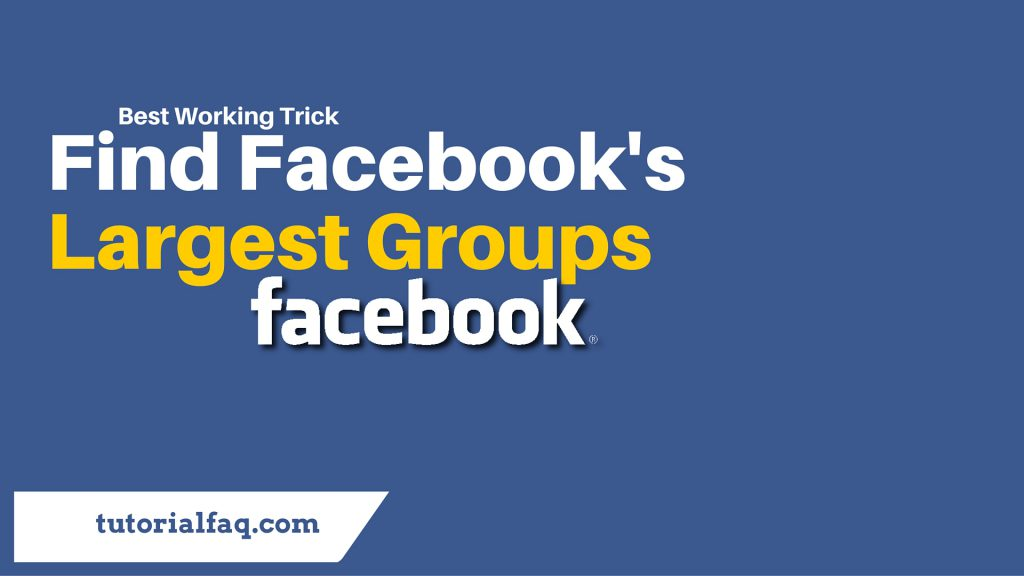large Facebook groups