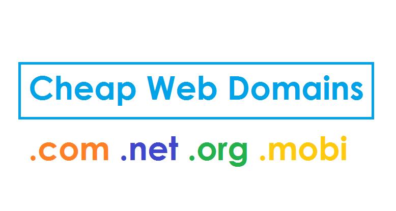 Companies that provide cheap web domains