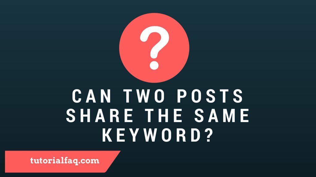 same keyword