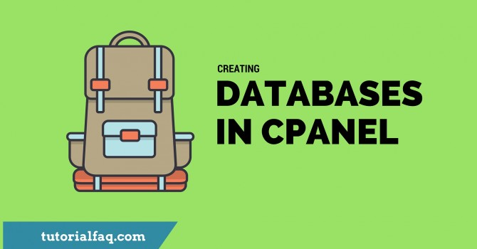 Database in Cpanel
