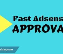 fast Adsense approval