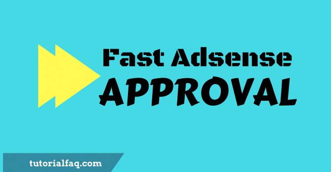 fast Adsense approval