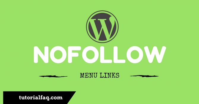 Add Nofollow Menu Links