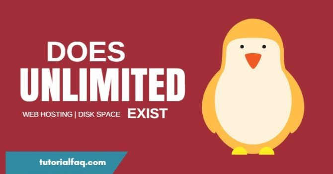 Unlimited Bandwidth and Disk Space